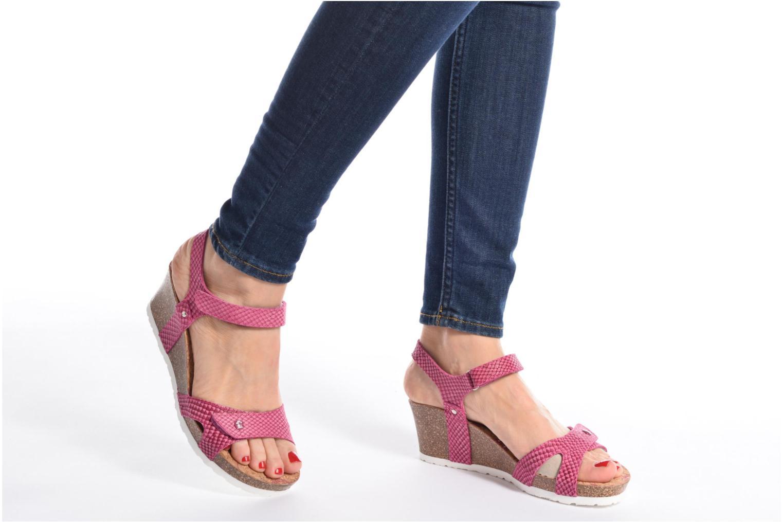 Sandalen Panama Jack Julia rosa ansicht von unten / tasche getragen