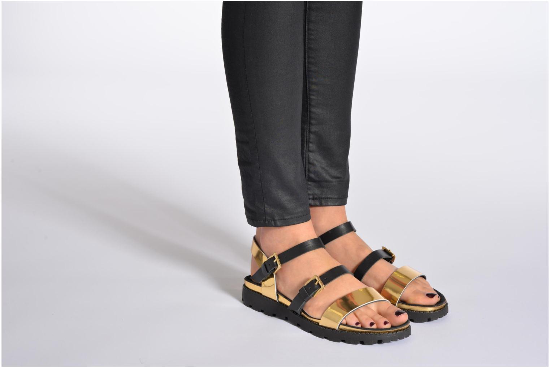 Sandales et nu-pieds Anaki Rio Or et bronze vue bas / vue portée sac