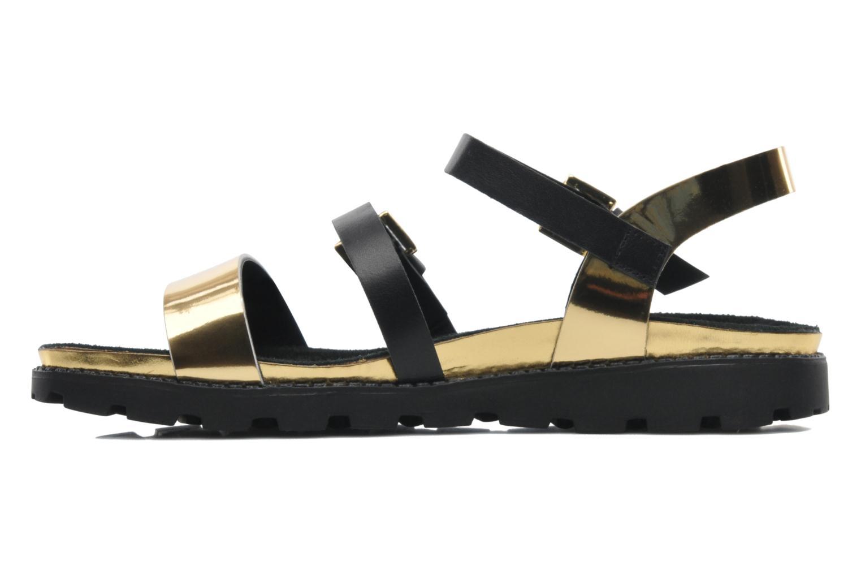 Sandales et nu-pieds Anaki Rio Or et bronze vue face