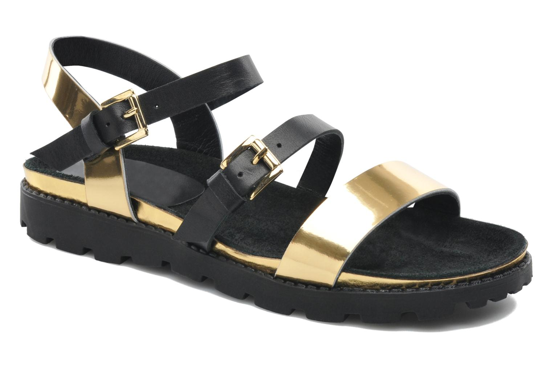 Sandales et nu-pieds Anaki Rio Or et bronze vue détail/paire