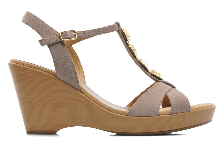Sandales et nu-pieds Unisa Rony Beige vue derrière