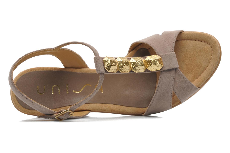 Sandales et nu-pieds Unisa Rony Beige vue gauche