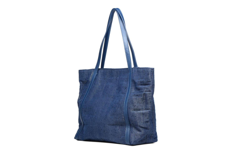 Sacs à main Loxwood Shopper Marilou Lin & Cuir Bleu vue droite