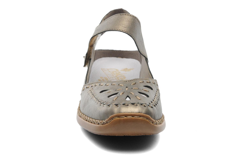 Ballerinas Rieker Creamy 41391 gold/bronze schuhe getragen