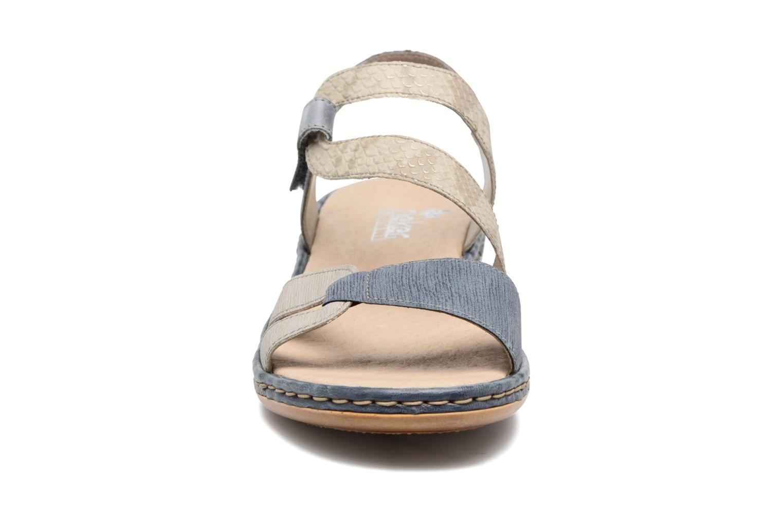 Sandalen Rieker Poppy 65969 blau schuhe getragen