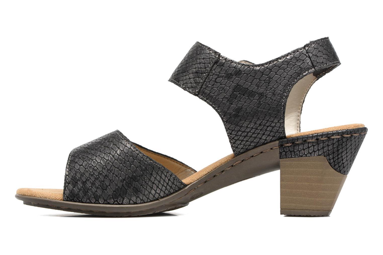 Sandales et nu-pieds Rieker Boby 67369 Noir vue face