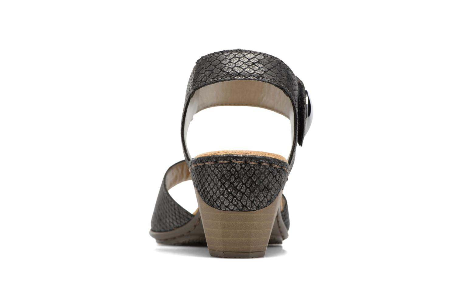 Sandals Rieker Boby 67369 Black view from the right