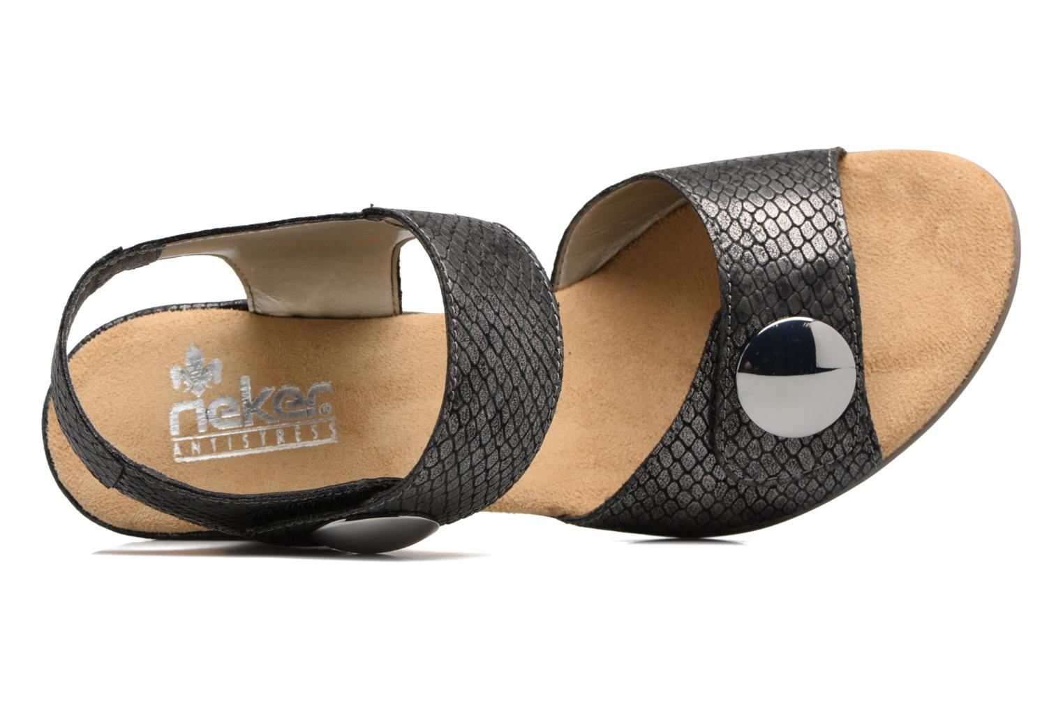 Sandals Rieker Boby 67369 Black view from the left
