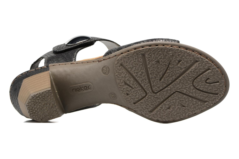 Sandales et nu-pieds Rieker Boby 67369 Noir vue haut
