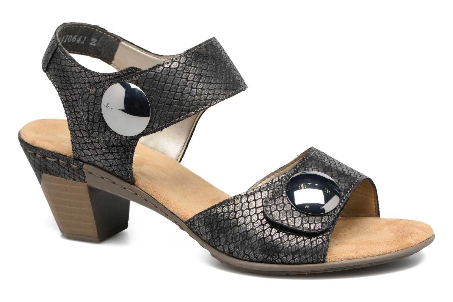 Sandals Rieker Boby 67369 Black detailed view/ Pair view