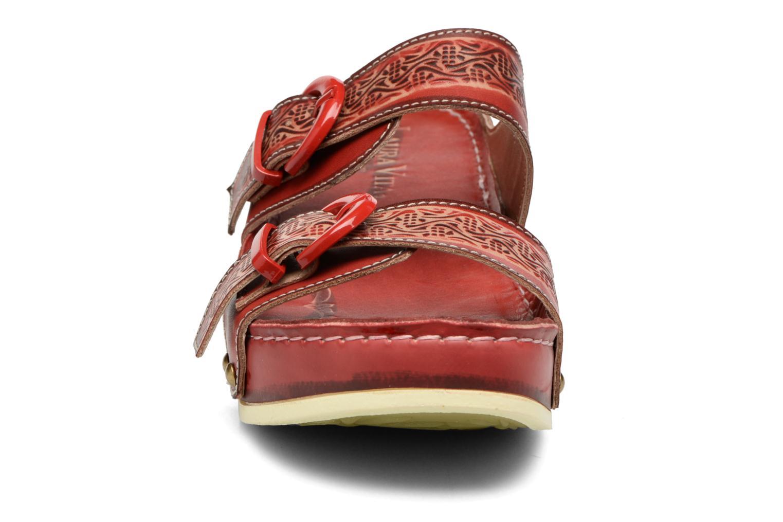 Mules et sabots Laura Vita Scep Rouge vue portées chaussures