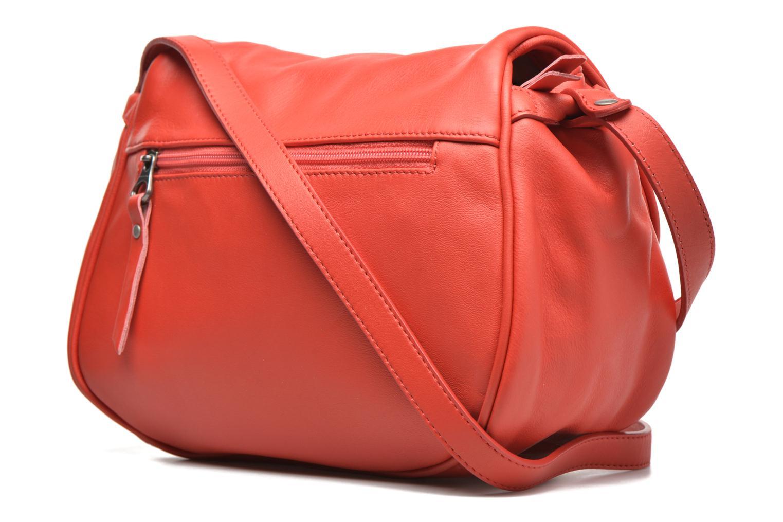 Handtaschen Sabrina Iris rot ansicht von rechts