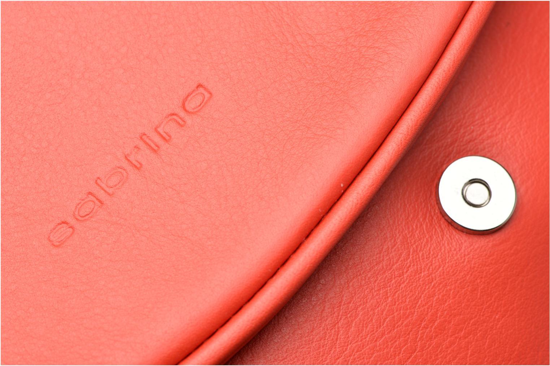 Handtaschen Sabrina Iris rot ansicht von links