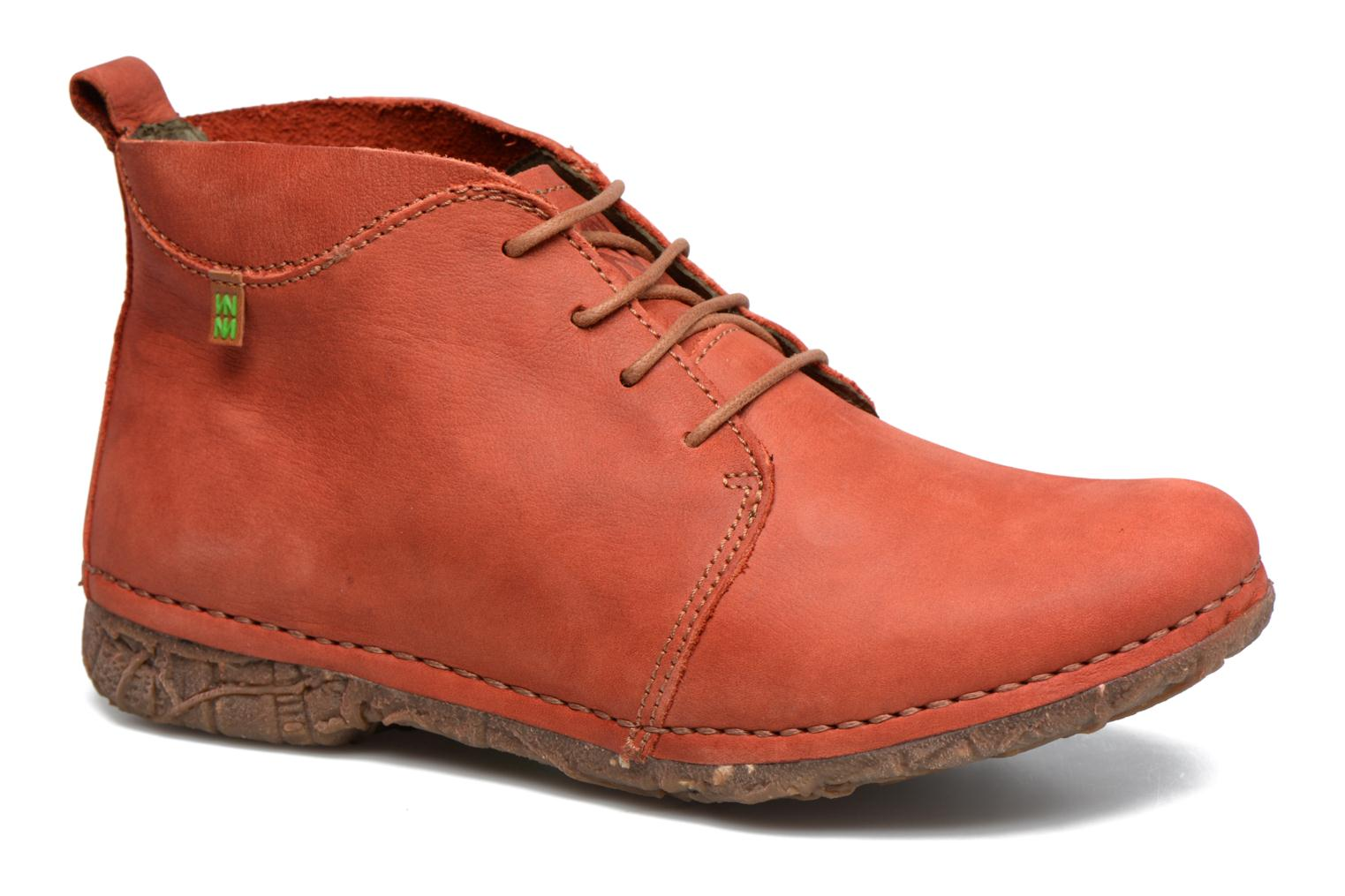 Lace-up shoes El Naturalista Ankor N974 Red detailed view/ Pair view