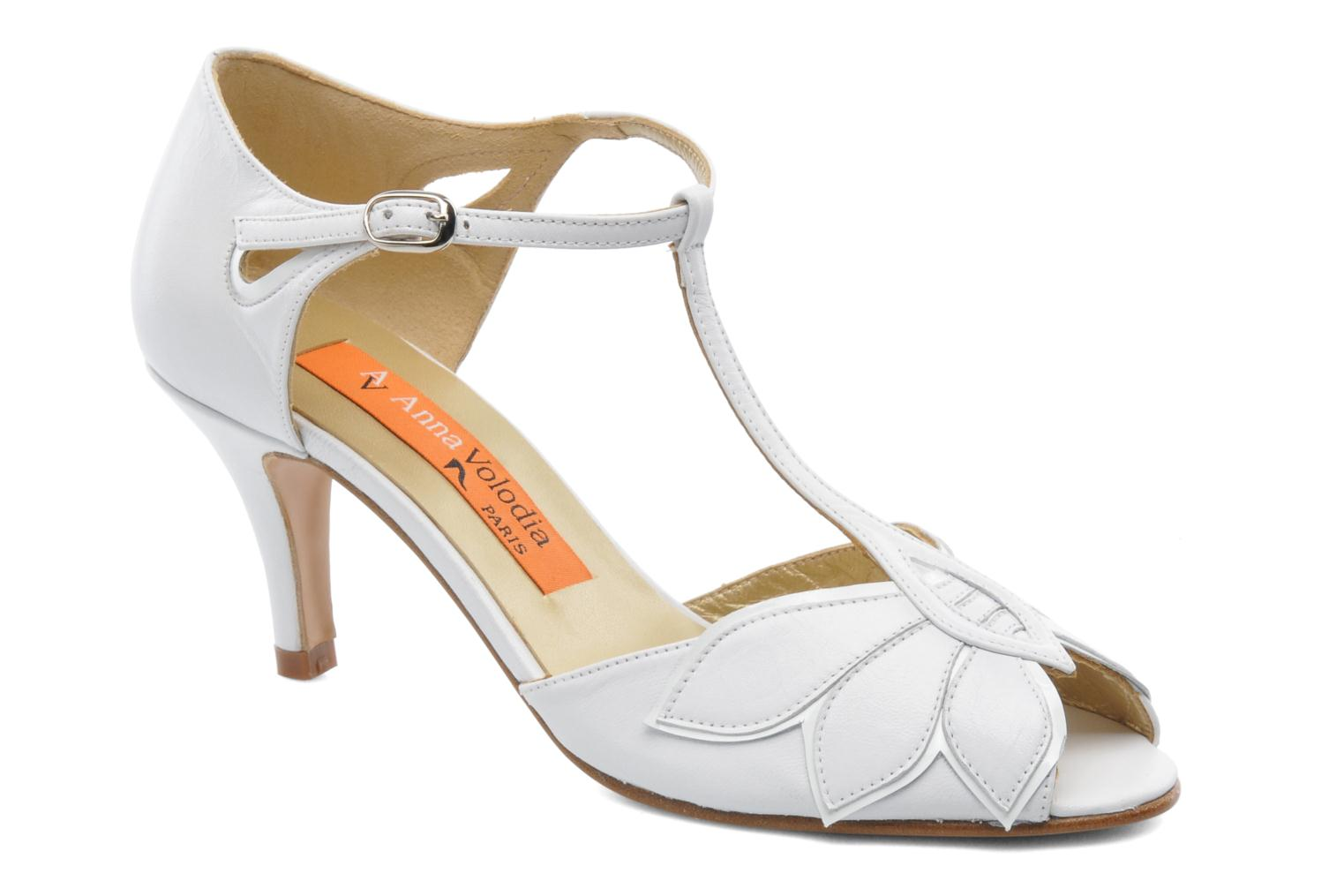 High heels Anna Volodia Mama White detailed view/ Pair view