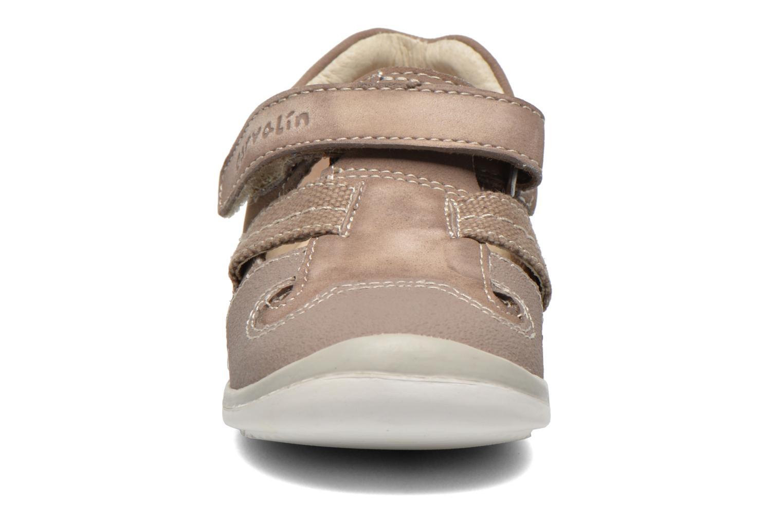 Chaussures à scratch Garvalin César Gris vue portées chaussures