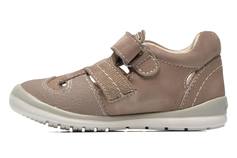 Velcro shoes Garvalin César Grey front view
