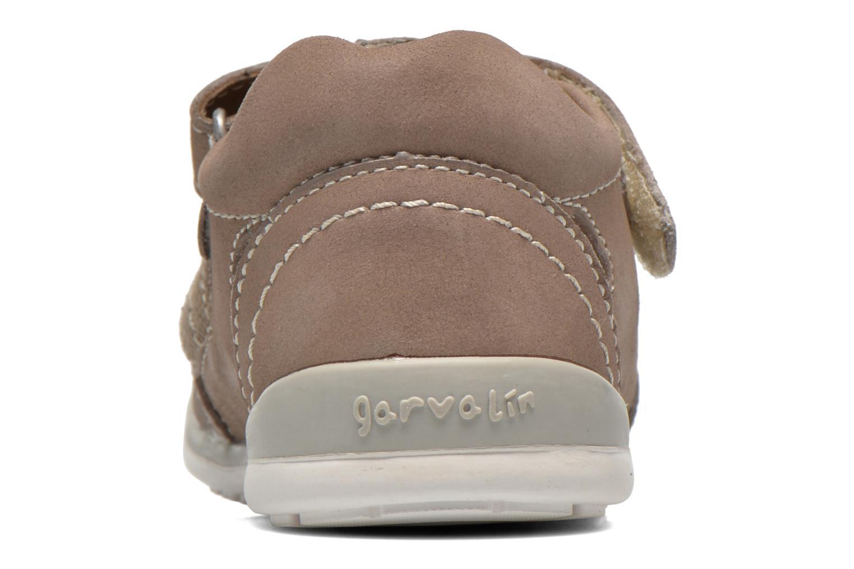Chaussures à scratch Garvalin César Gris vue droite