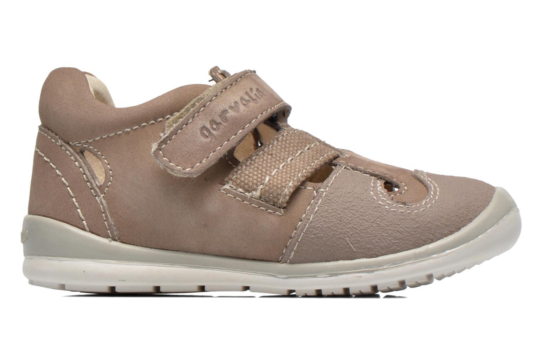 Schoenen met klitteband Garvalin César Grijs achterkant