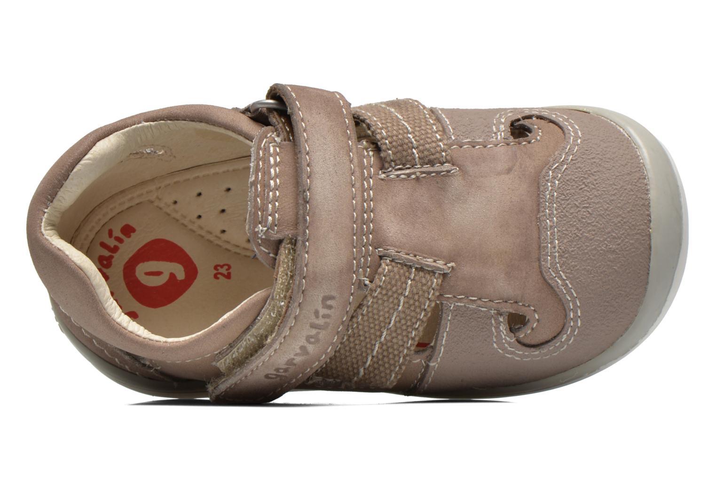 Chaussures à scratch Garvalin César Gris vue gauche