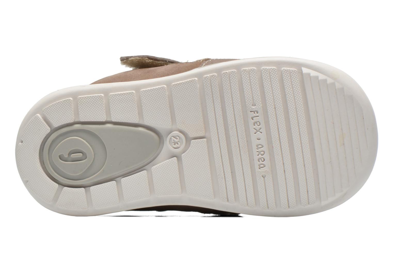 Chaussures à scratch Garvalin César Gris vue haut