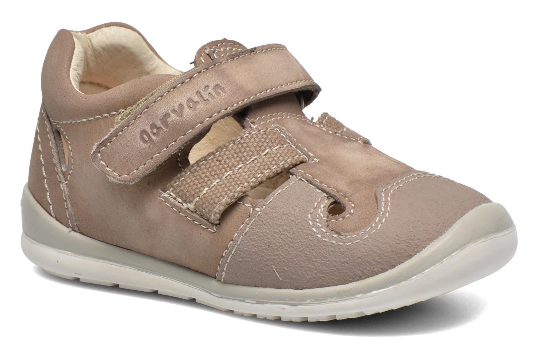 Chaussures à scratch Garvalin César Gris vue détail/paire