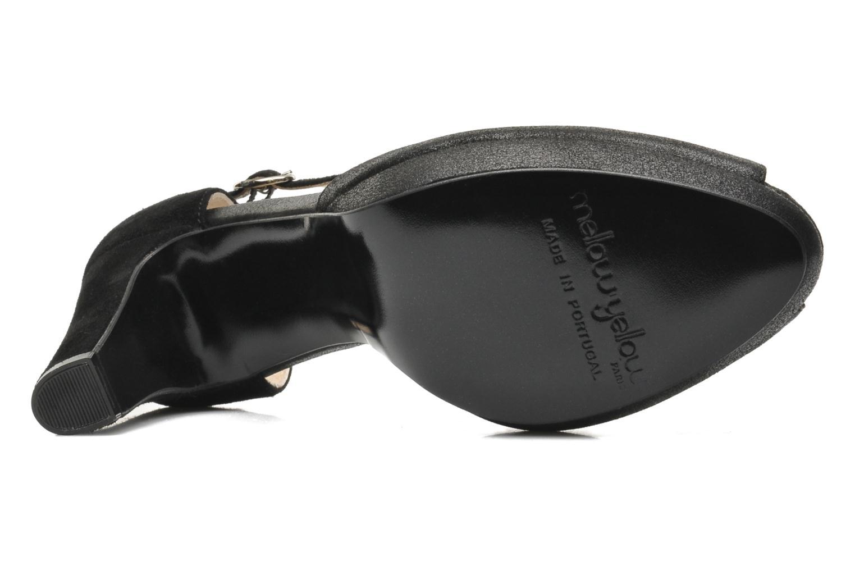 Zapatos de tacón Mellow Yellow Simane Negro vista de arriba