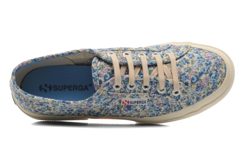 2750 Cotu Frabric 25 W Flowered Blue Azul
