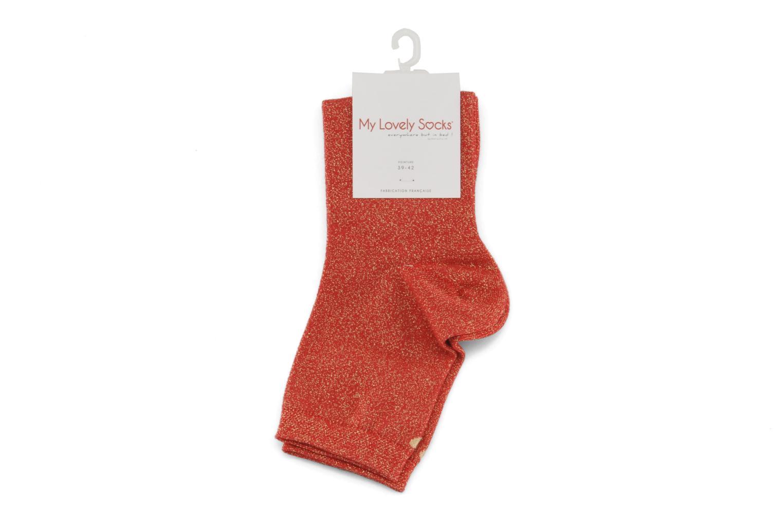 Strumpor och strumpbyxor My Lovely Socks Jo Röd bild från baksidan