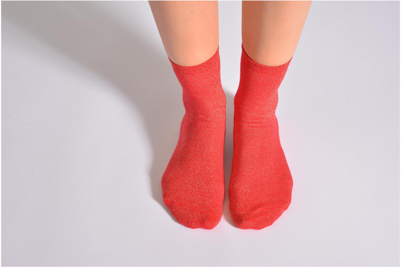 Chaussettes et collants My Lovely Socks Jo Rouge vue haut