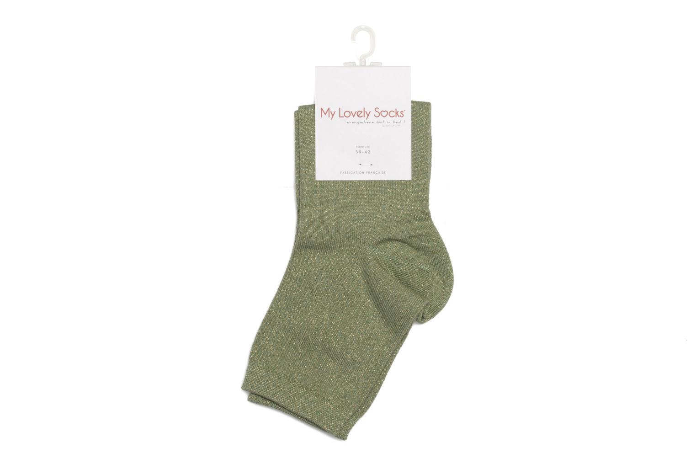 Chaussettes et collants My Lovely Socks Jo Vert vue portées chaussures