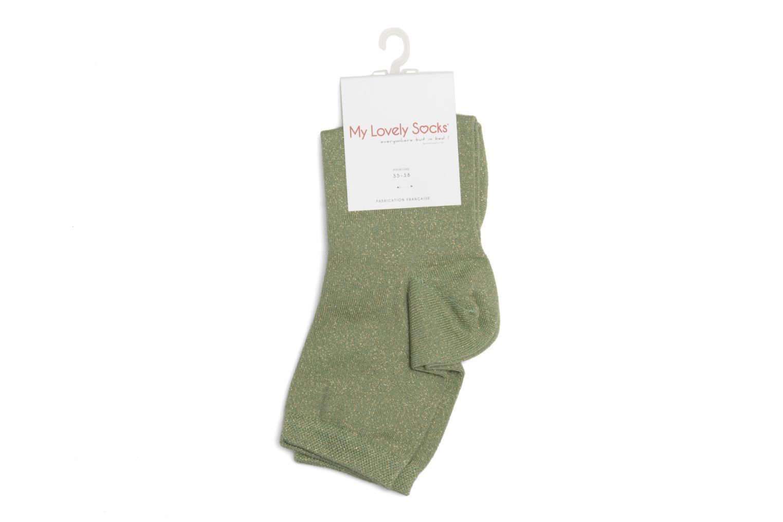 Chaussettes et collants My Lovely Socks Jo Vert vue droite