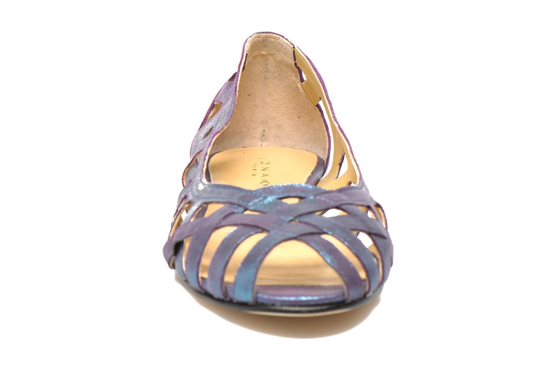 Ballerines Jonak DERAY Bleu vue portées chaussures