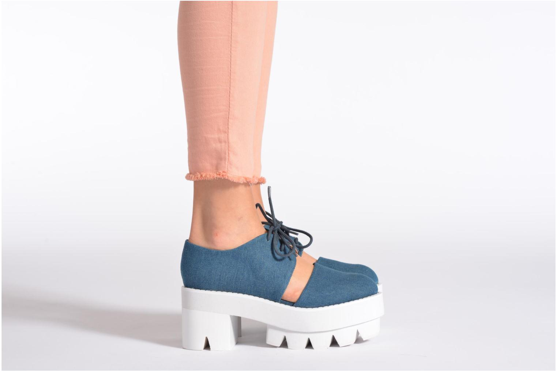 Zapatos con cordones Jeffrey Campbell DELONGE Azul vista de abajo