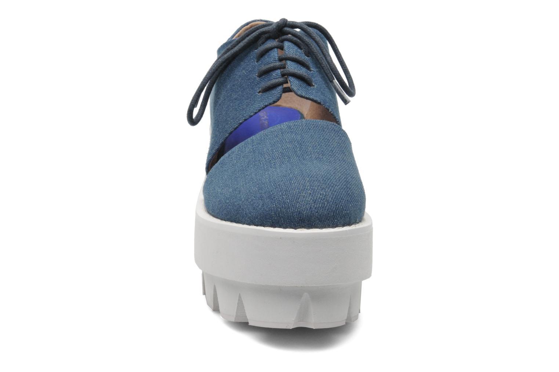 Schnürschuhe Jeffrey Campbell DELONGE blau schuhe getragen