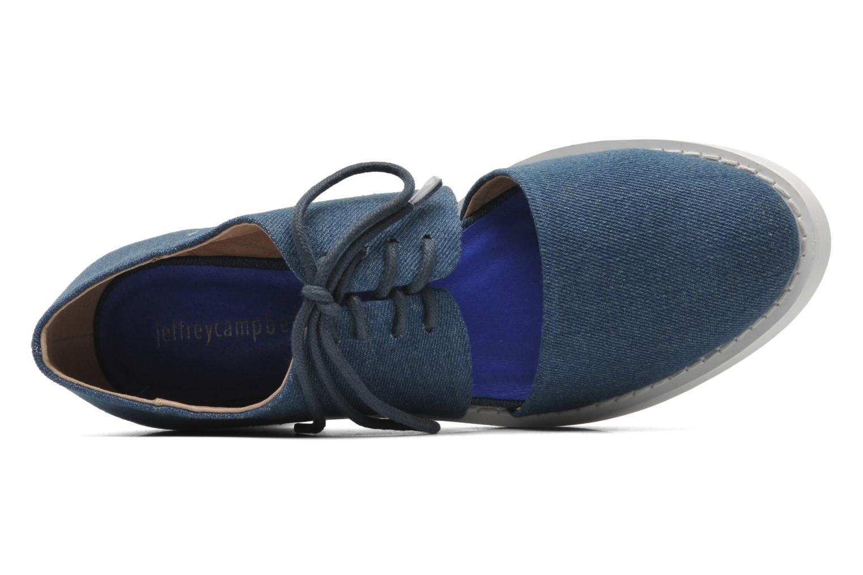 Zapatos con cordones Jeffrey Campbell DELONGE Azul vista lateral izquierda