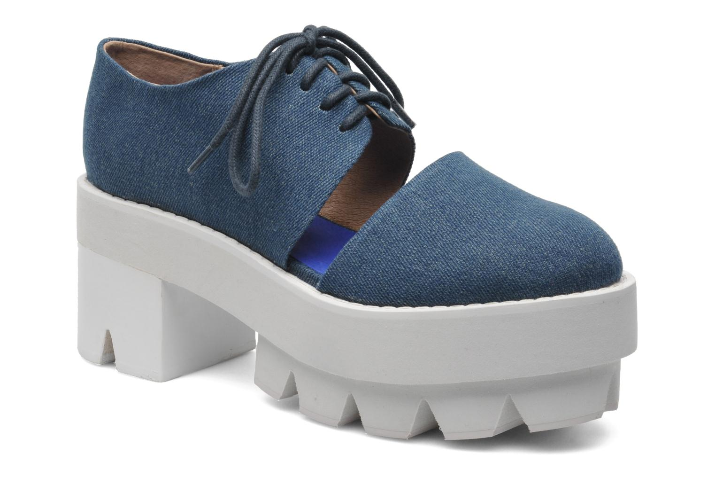 Zapatos con cordones Jeffrey Campbell DELONGE Azul vista de detalle / par