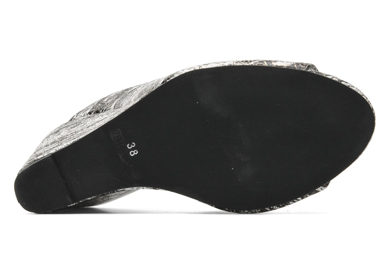 Jovie White/Black/Gold leather