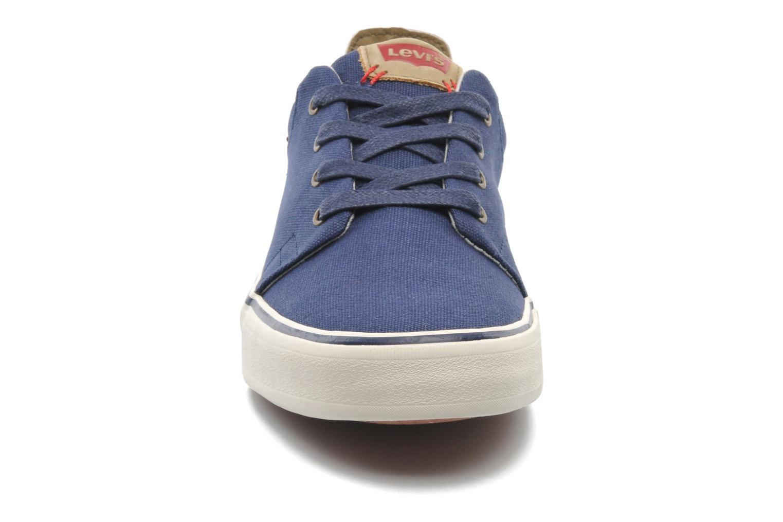 Sneaker Levi's Justin Low Lace blau schuhe getragen