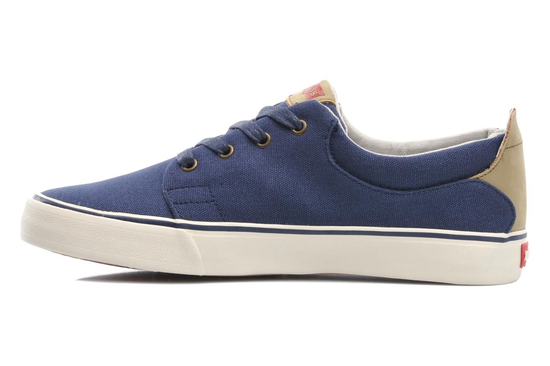 Sneaker Levi's Justin Low Lace blau ansicht von vorne