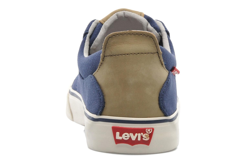 Sneaker Levi's Justin Low Lace blau ansicht von rechts