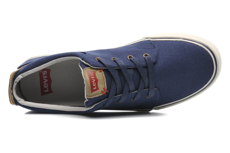 Sneaker Levi's Justin Low Lace blau ansicht von links