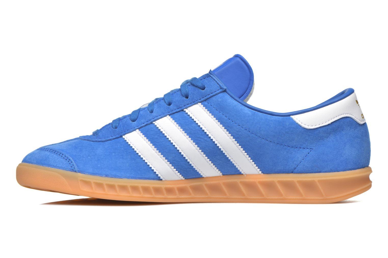 Deportivas Adidas Originals Hamburg Azul vista de frente