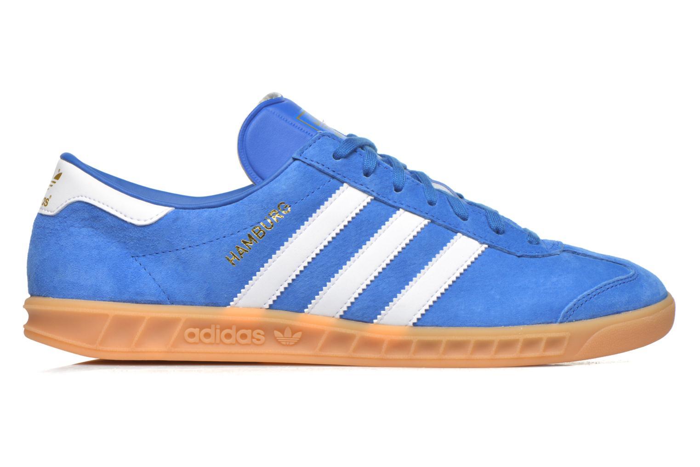 Deportivas Adidas Originals Hamburg Azul vistra trasera