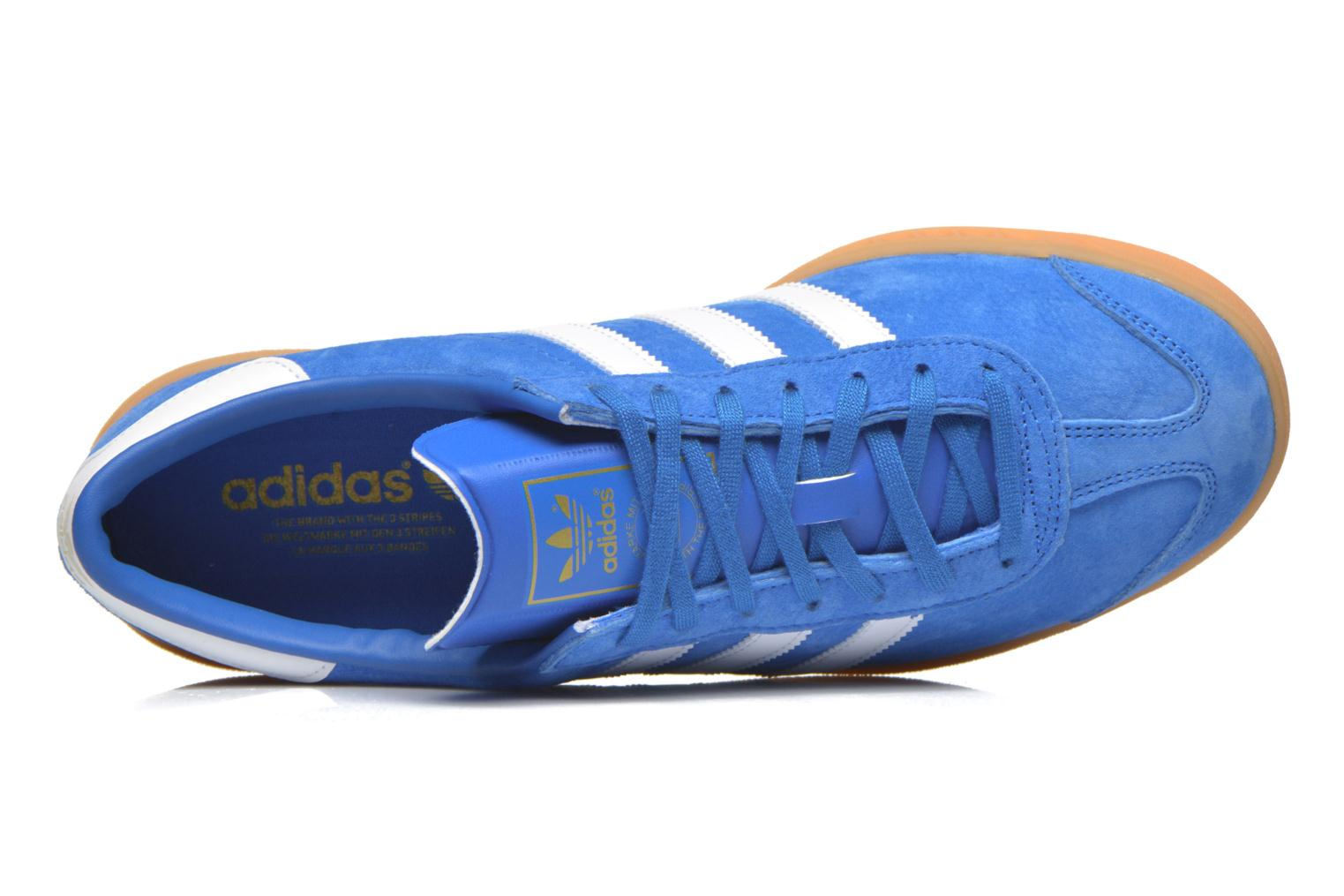 Trainers Adidas Originals Hamburg Blue view from the left