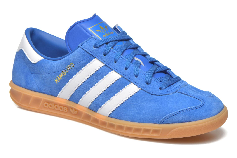 Deportivas Adidas Originals Hamburg Azul vista de detalle / par