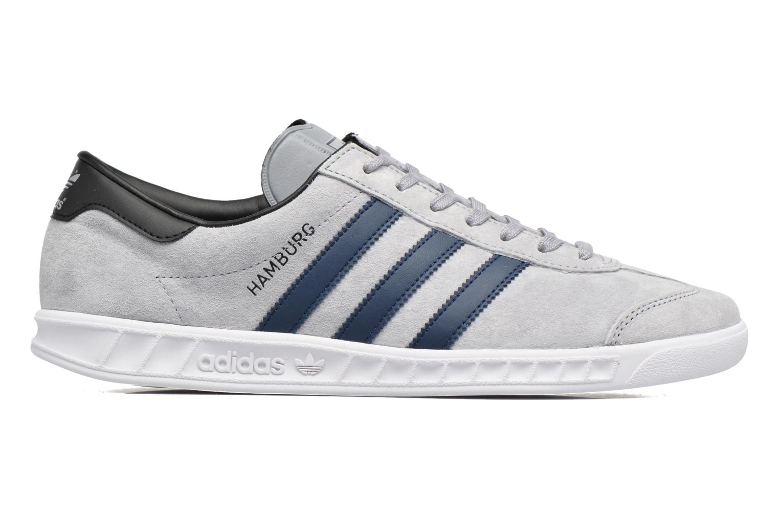 Baskets Adidas Originals Hamburg Gris vue derrière