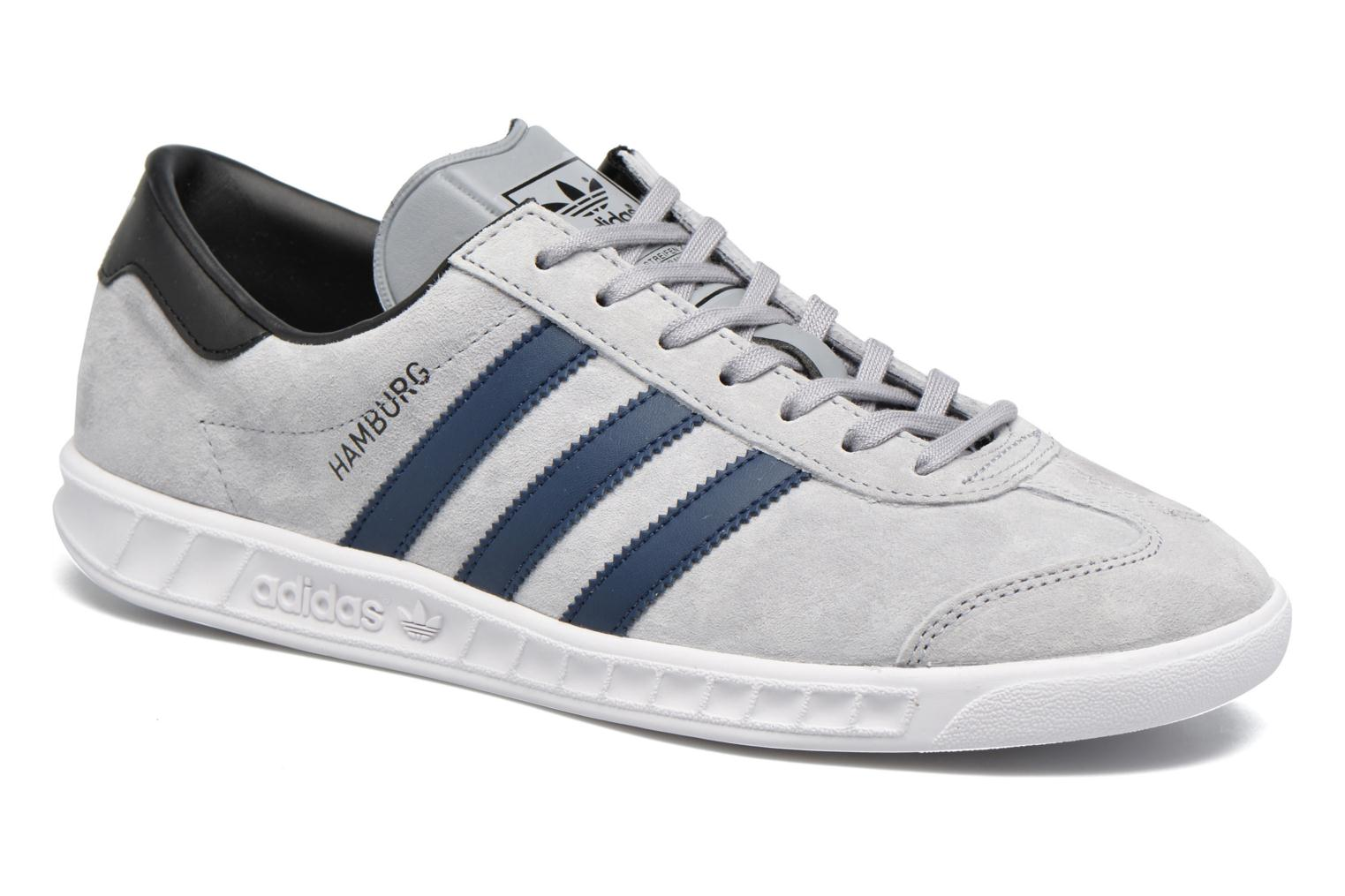 Baskets Adidas Originals Hamburg Gris vue détail/paire