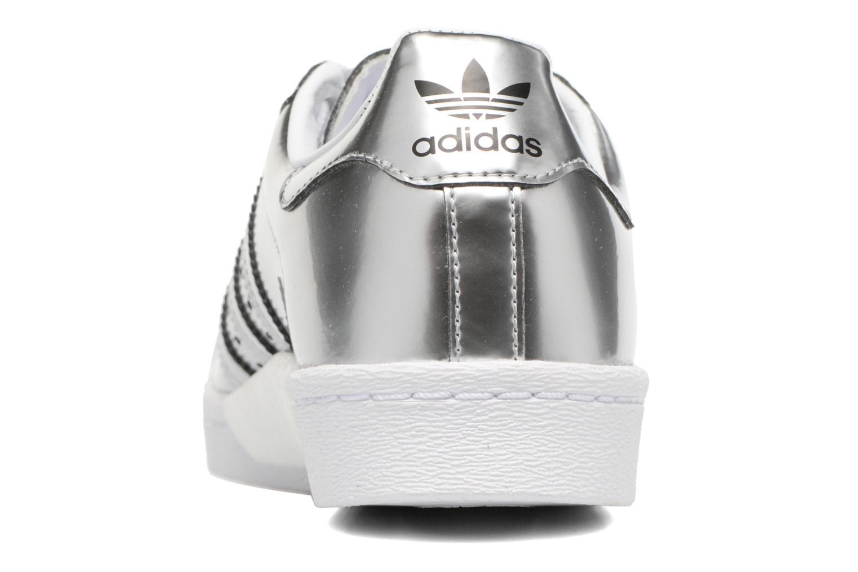 Deportivas Adidas Originals Superstar W Plateado vista lateral derecha