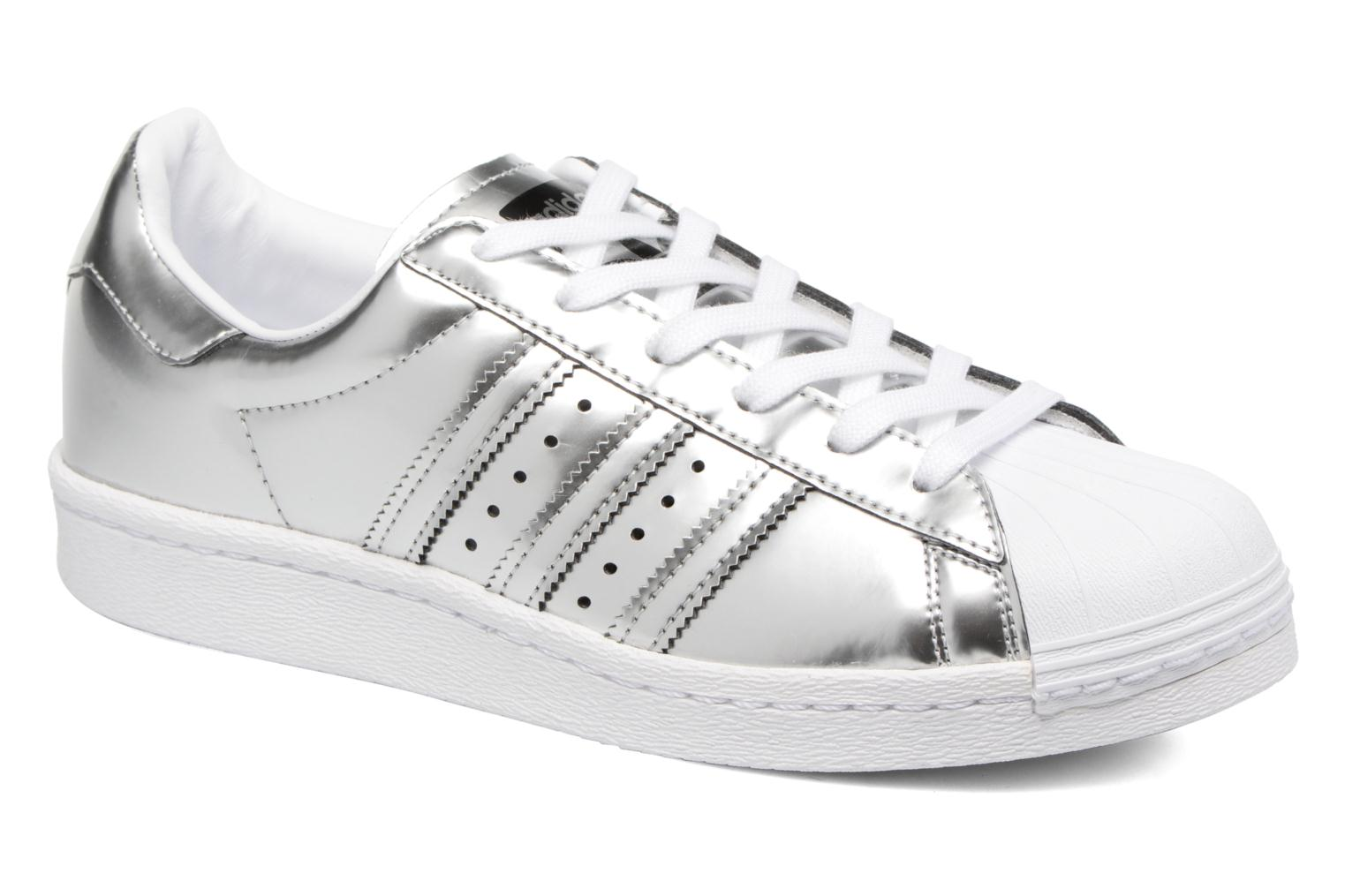 Baskets Adidas Originals Superstar W Argent vue détail/paire